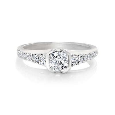 14 K Gold and 0.74 Ctw Engagement Diamond Ring
