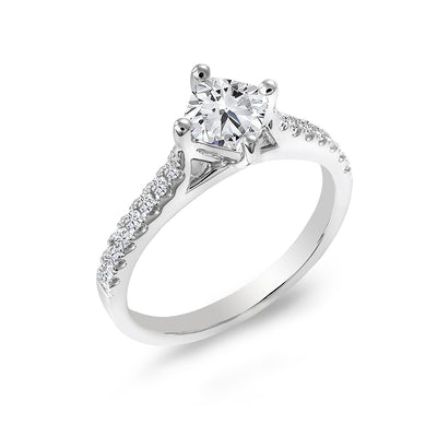 14 K Gold and 0.87Ctw Engagement Diamond Ring