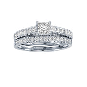 14-K-White-Gold-1.00-ctw-Multistones-Engagement-Diamond-Ring-Fame-Diamonds