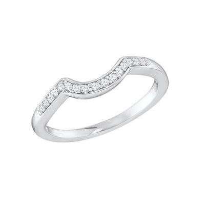 14-K-White-Gold-0.10-ctw-curved-Round-Pave-set-Diamond-Wedding-stackable-Band-Fame-Diamonds