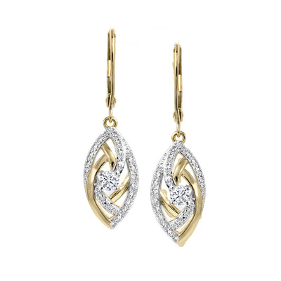 CR-E51822 - 10 K Gold and 0.3 Ctw Diamond Earring