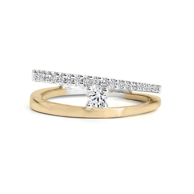 14 K Gold and 0.23 Ctw Canadian Diamond Engagement Ring
