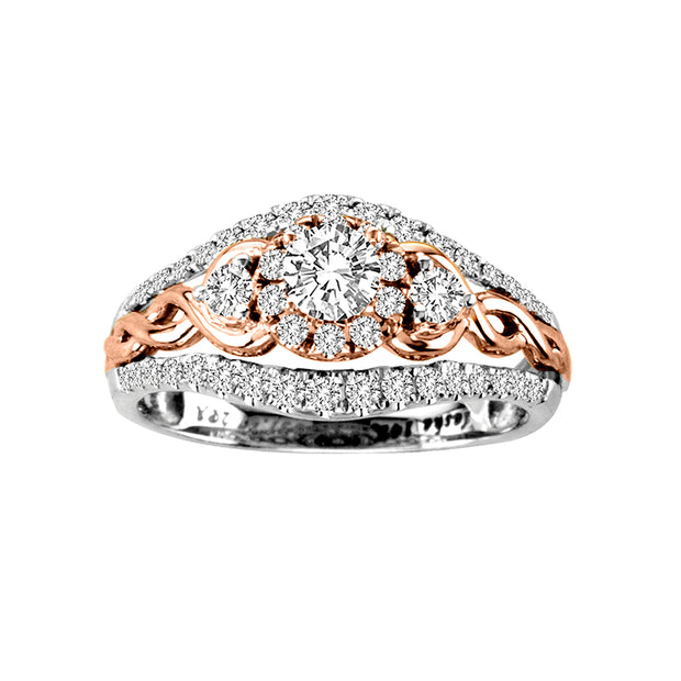 14-K-White-Gold-1.02ctw-Multistones-Engagement-Diamond-Ring-Fame-Diamonds
