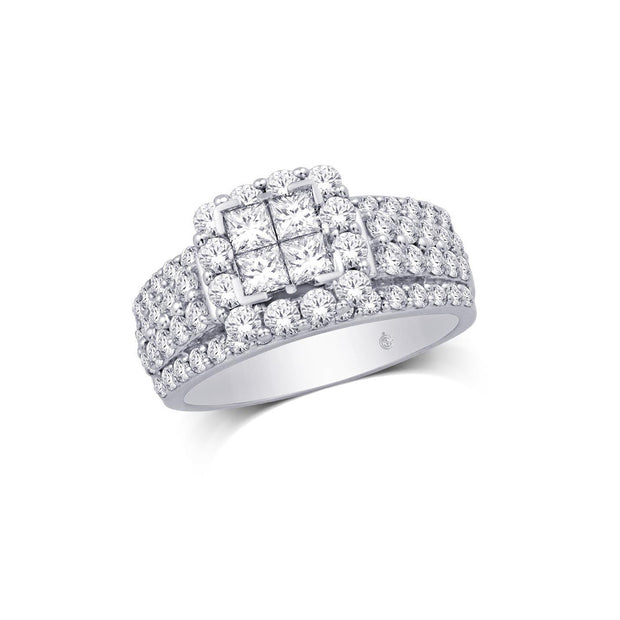10K-White-Gold-2-ctw-Princess-cut-Round-Multi-stones-Halo-Engagement-Diamond-Ring-Fame-Diamonds