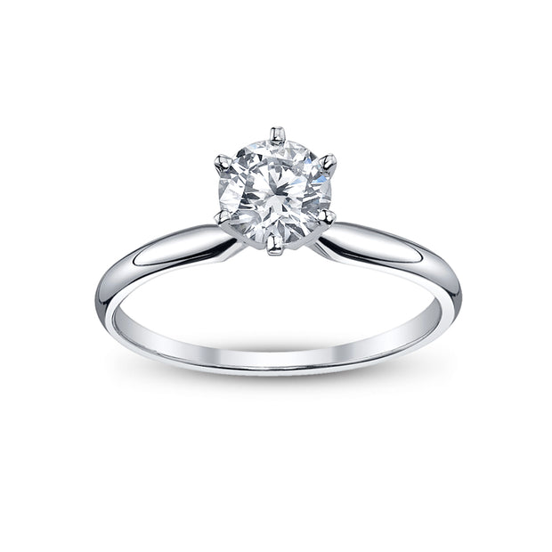 14 K White Gold 0.50ct  4 prong Solitaer  Ring  PRMAR180011