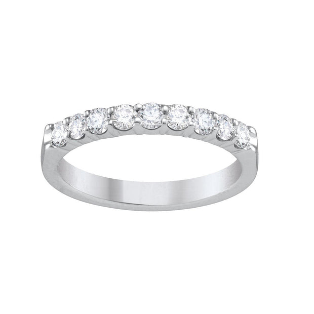 14-K-White-Gold-0.15-ctw-4-prong-Half-Eternity-Round-Diamond-Wedding-Band-Fame-Diamonds