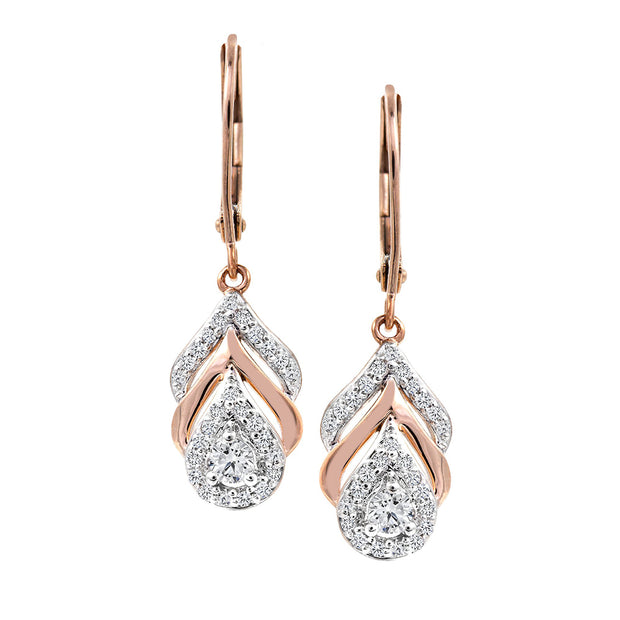 CR-E51818 - 10 K Gold and 0.3 Ctw Diamond Earring