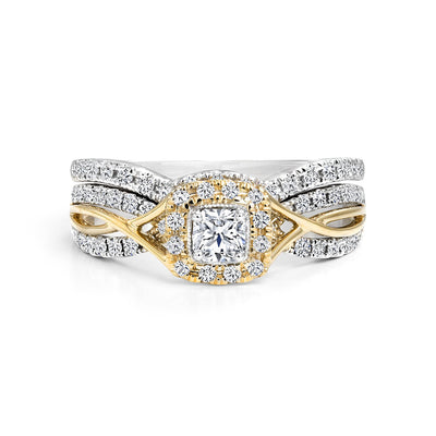 CR-R6353SET-23WY- 14 K Gold and 0.61 Ctw Engagement Diamond Ring