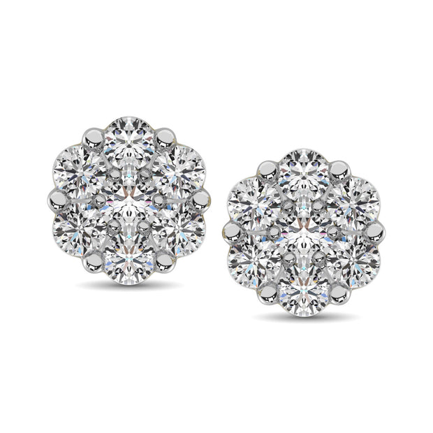 10K White Gold 0.18 Ctw. Diamond Stud Earrings