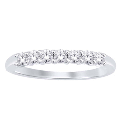14K-White-Gold-0.49-ctw-Round-Claw-Setting-Diamond-Wedding-Band-Fame-Diamonds