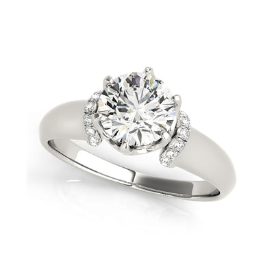 6-Prong Solitaire With Micro Scalloped Diamond Engagement Ring