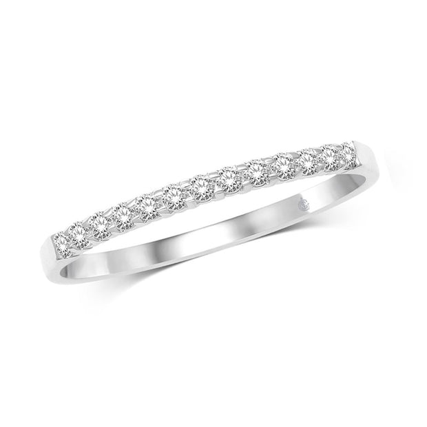 57357B5W- 14 K White Gold 0.5 ctw Round Diamond Wedding Band