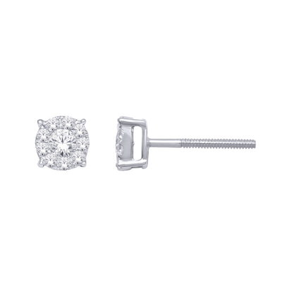 14K White Gold .50 Ctw. Diamond Stud Earrings PROCT18009