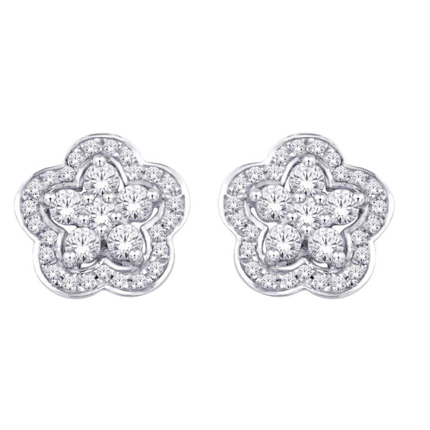 10K White Gold 0.3 Ctw. Diamond Stud Earrings