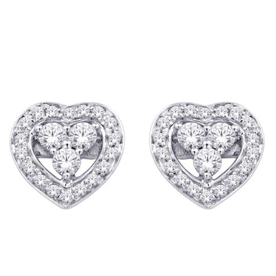 10K White Gold 0.16 Ctw. Diamond Stud Earrings