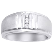 10K White Gold 1/6 Ct.Tw. Diamond Mens Ring