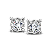 10K White Gold 0.1 Ctw. Diamond Stud Earrings