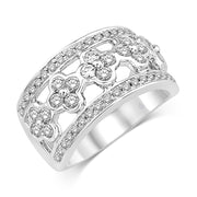 14K White Gold 1 Ct.Tw. Diamond Fashion Band