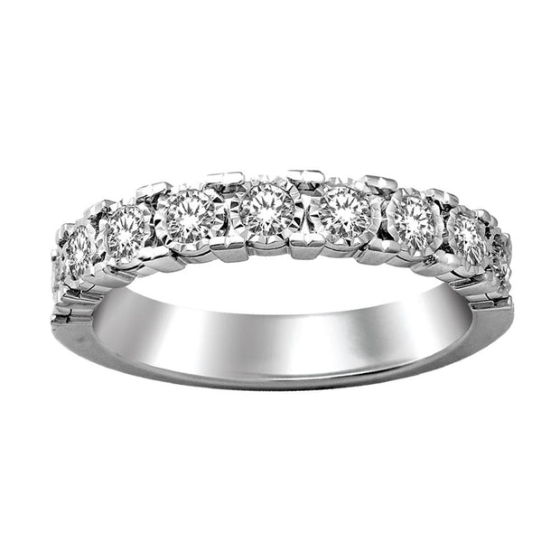 59237W-A1- 10 K White Gold 0.25 ctw Round Diamond Wedding Band