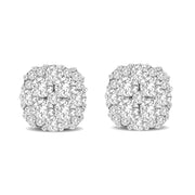 14K White Gold 0.75 Ctw. Diamond Stud Earrings
