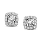 10K White Gold 0.33 Ctw. Diamond Stud Earrings