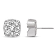 10K White Gold 0.38 Ctw. Diamond Stud Earrings