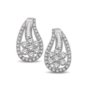 14K White Gold 5/8 Ct.Tw. Diamond Stud Earrings