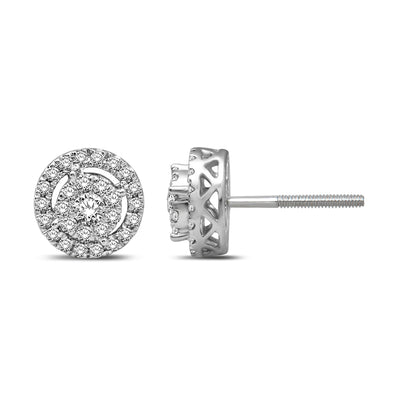 14K White Gold 2/5 Ct.Tw. Diamond Stud Earrings