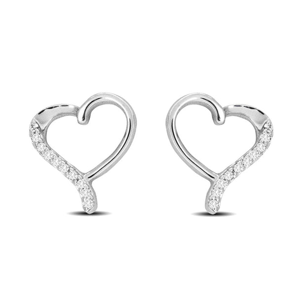 10K White Gold 0.29 Ctw. Diamond Stud Earrings