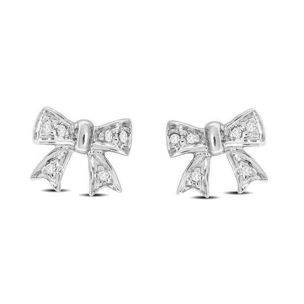 10K White Gold 0.04 Ctw. Diamond Stud Earrings