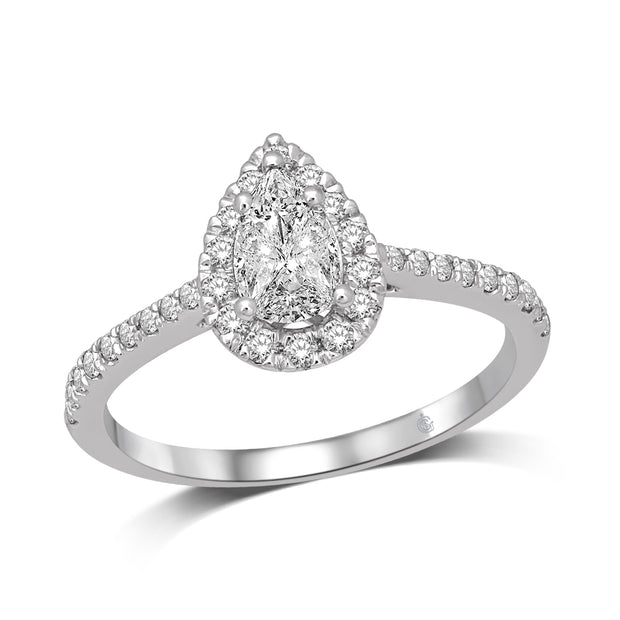 14K-White-Gold-0.6ctw-Pear-Shape-Halo-Engagement-Diamond-Ring-Fame-Diamonds