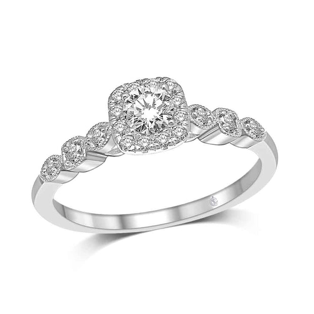 14K-White-Gold-0.50-ctw-Cushion-Bezel-Set-diamond-band-Halo-Engagement-Diamond-Ring-Fame-Diamonds