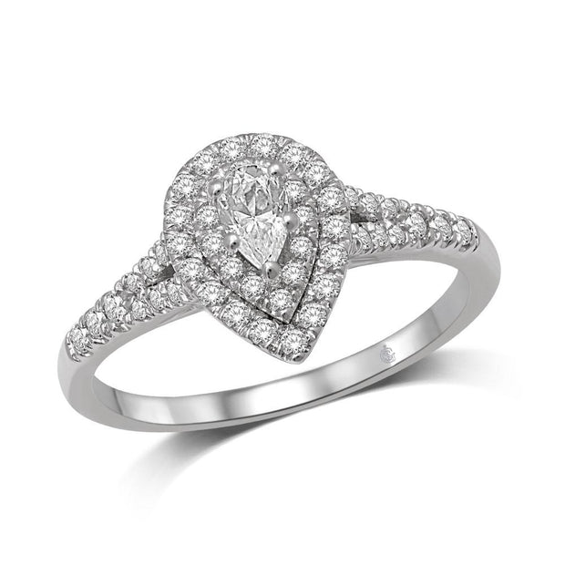 14K-White-Gold-0.52-ctw-Pearl-Shape-Doublel-Halo-Engagement-Diamond-Ring-Fame-Diamonds