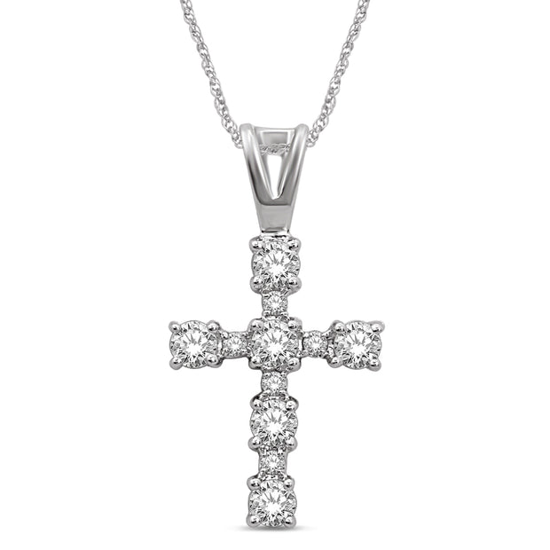 10K White Gold 0.25ctw diamonds pendant