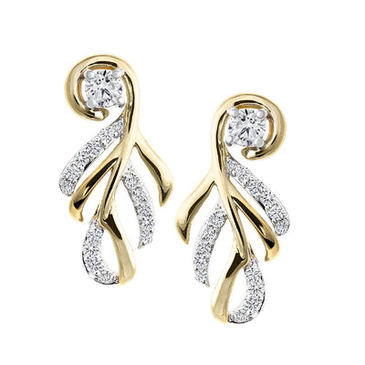 CR-E51782 - 10 K Gold and 0.26 Ctw Diamond Earring