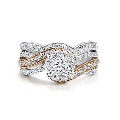 CR-R5445SET-23WR- 14 K Gold and 1. 03 Ctw Engagement Diamond Ring