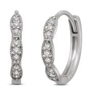 14K White Gold 1/6 Ct.Tw. Diamond Stackable Earrings