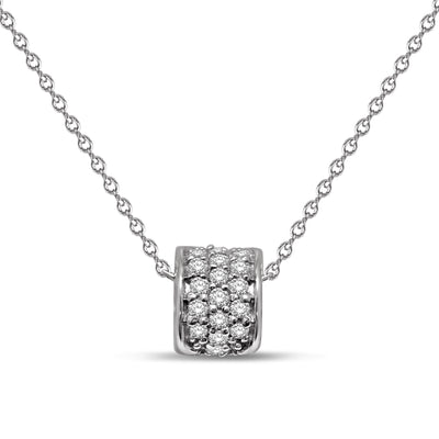 10K White Gold 0.16ctw diamonds pendant