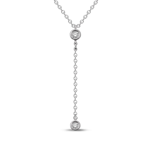 10K White Gold 0.06ctw diamonds pendant