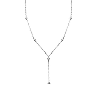 14K White Gold 0.12ctw diamonds pendant
