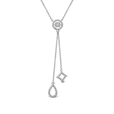 14K White Gold 0.0.33ctw diamonds pendant