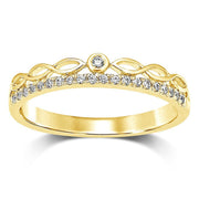 14K White Gold 1/10 Ct.Tw.Diamond Stackable Band