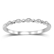 14K White Gold Diamond Accent Wedding Band