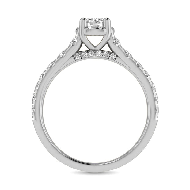 14K White Gold 1 1/4Ct.Tw. Diamond Round Cut keyani Bridal Ring