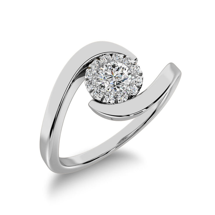 10K White Gold 1/4 Ct.Tw. Diamond Promise Ring
