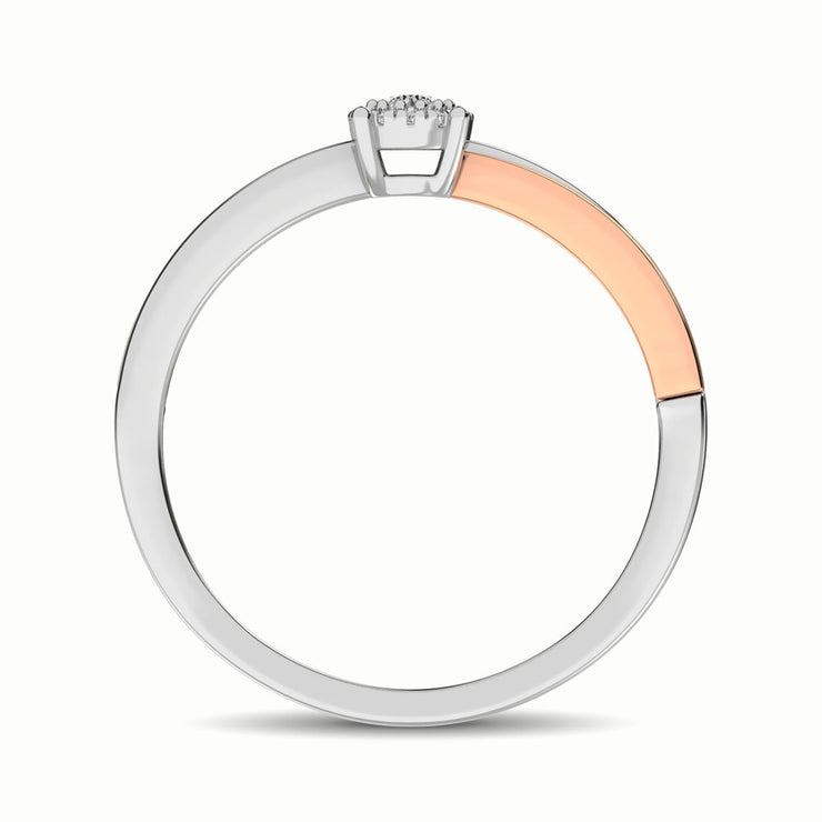 10K Two Tone 1/10 Ct.Tw. Diamond Promise Ring