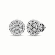 10K White Gold 1/2 Ct.Tw. Diamond Stud Earrings