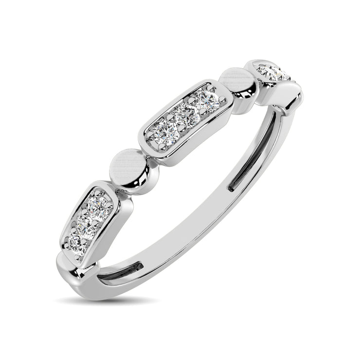 14K White Gold 1/10 Ct.Tw. Diamond Stackable Band