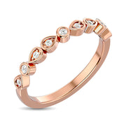 Diamond Stackable Band 1/10 ct tw in 10K Rose Gold