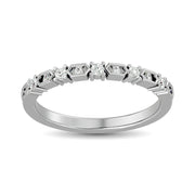 Diamond Stackable Band 1/6 ct tw in 14K White Gold